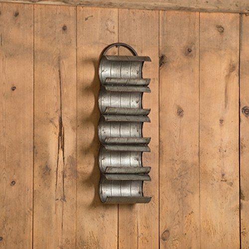 WALL MOUNT GALVANIZED WINE RACK by Ragon House