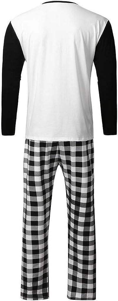 Femme Bebe 0-7 Ans - Pyjama Noel Famille Hommes Arbre de Noel Tee Shirt Pantalon Combinaison- Ensemble de No/ël V/êtements de Nuit pour Papa M/ère Fils Fille Enfant Garcon Fille