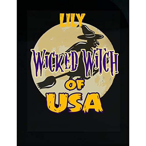 Prints Express Halloween Costume Lily Wicked Witch of USA Great Personalized Gift - Sticker -