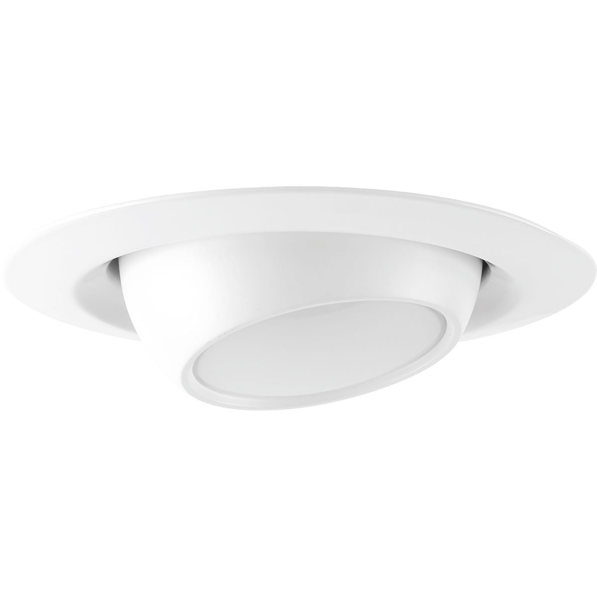 Progress Lighting P8046-28-30K Recessed 4'' LED Eyeball Trim, Satin White