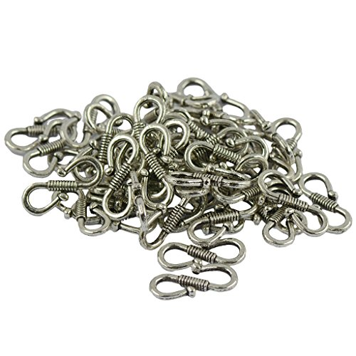 - Jili Online 50pcs Lots Tibetan Silver Metal S Hook Clasp Other Jewelry Making Findings