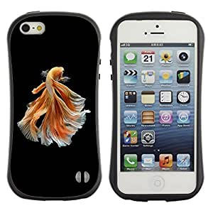 Suave TPU GEL Carcasa Funda Silicona Blando Estuche Caso de protección (para) Apple Iphone 5 / 5S / CECELL Phone case / / goldfish black orange exotic dive pet /