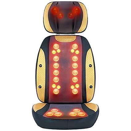 Cojín eléctrico de la silla del masaje con calor (30 bolas ...