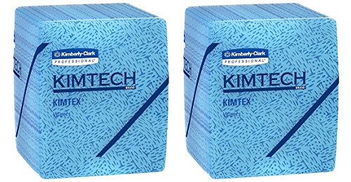 Kimtech Industrial Cleaning Wipes, Disposable, Low Lint Quarterfold Wipes (33560), 8 Packs / Case, 66 Sheets / Pack (2)