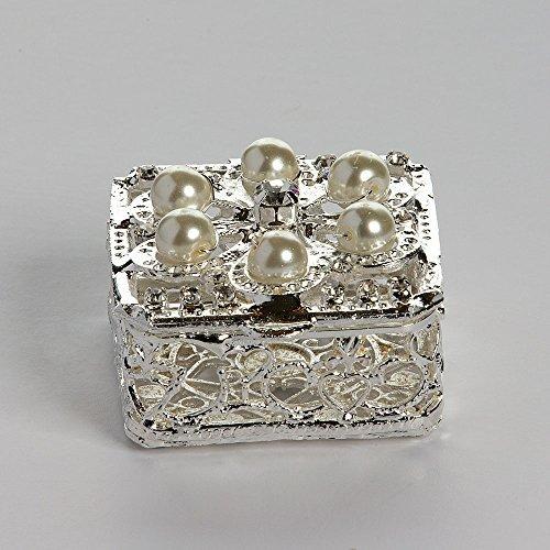 Square Silver Wedding Arras Box and Unity Coins Arras de boda