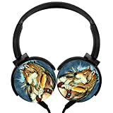 Gold Wolf Man Stereo Overear Heavy Bass Portable Wire Microphone mp3 Tablet PC Video Game Phone