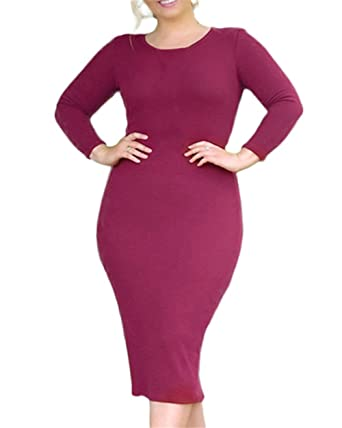 Cacncut Womens Plus Size Spring Dress For Women Sexy Casual Office