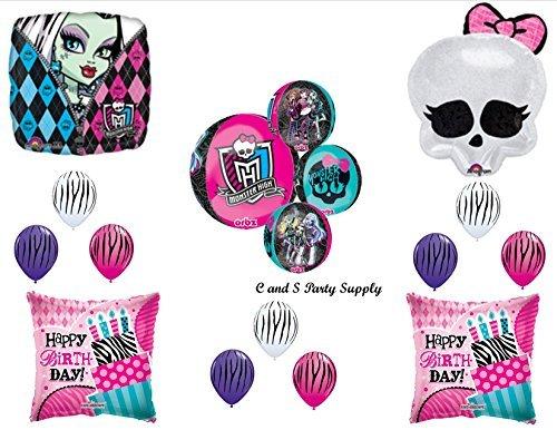 MONSTER HIGH ORBZ Skullette Birthday Party Mylar Balloon Decorations Supplies
