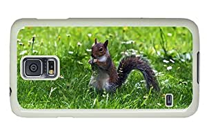 Hipster cute Samsung S5 Cases squirrel grass PC White for Samsung S5