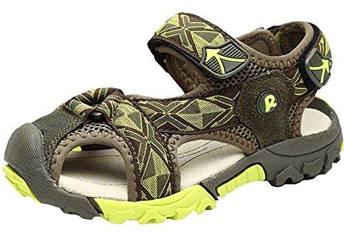 Orlando Johanson New Kids Totem Closed Toe Velcro Strap Sport Outdoor Sandals Army Green 3.5 M US Big Kid - Shops In Sports Orlando