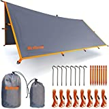 WildVenture Tent Tarp Rain Fly - Waterproof Lightweight Survival Gear Hammock Shelter