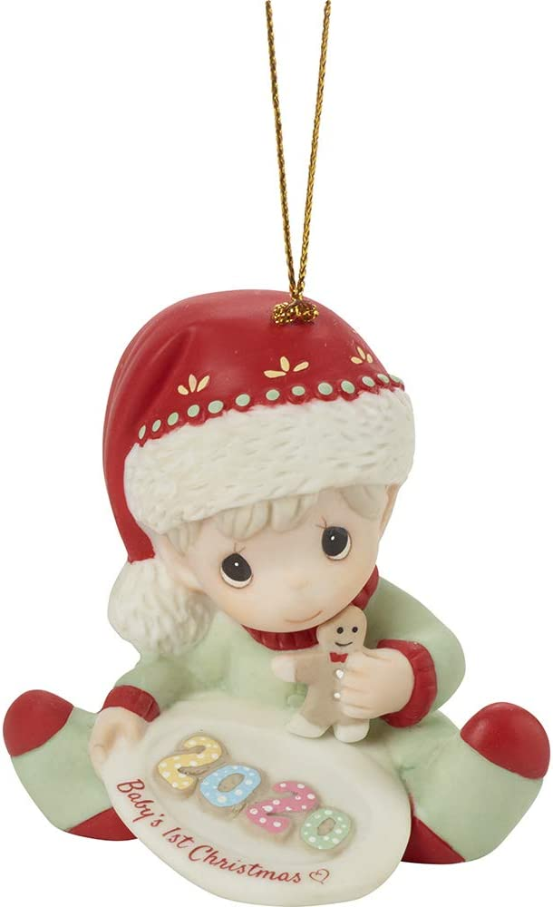 Precious Moments Ornaments Babys First Christmas 2020 Amazon.com: Precious Moments Dated 2020 Baby Boy Ornament, Multi