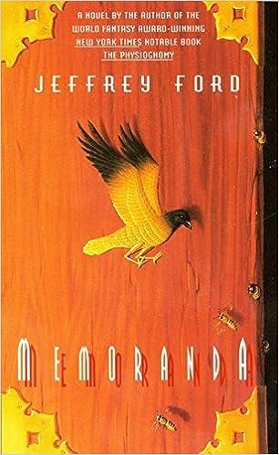 Memoranda Jeffrey Ford 9780380813681 Amazon Books