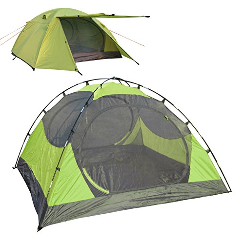 LETHMIK Portable Outdoor Backpacking Tent,2-3 Person Ultralight Waterproof Easy Set Up Family Tent with Carrying Bag Green