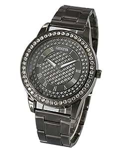 Gold Watches Diamond Dial Gold Steel Analog Quartz Wrist Watch
