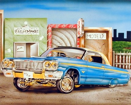 lowrider truck poster