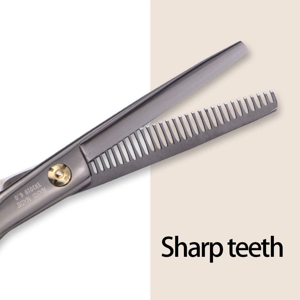 6 Inches Hairdresser Scissors, Stainless Steel Professional Hair Cutting Thinning Scissors Hairdressing Set Hair Scissors for Men Women Pet gold