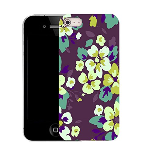 Mobile Case Mate IPhone 4s clip on Silicone Coque couverture case cover Pare-chocs + STYLET - fascinating floral pattern (SILICON)