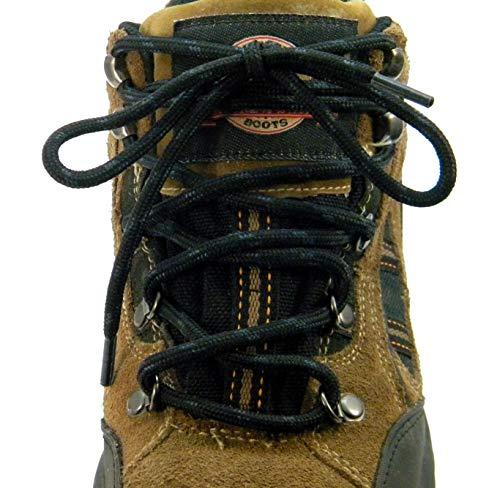 72 Inch Black w/ Black Kevlar proTOUGH(tm) Reinforced Heavy Duty Boot Laces Shoelaces (2 Pair Pack)