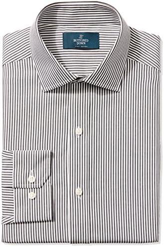 Buttoned Down camisa de vestirajustada con diseño de cuello abierto ajustable, no necesita planchado, para hombre.