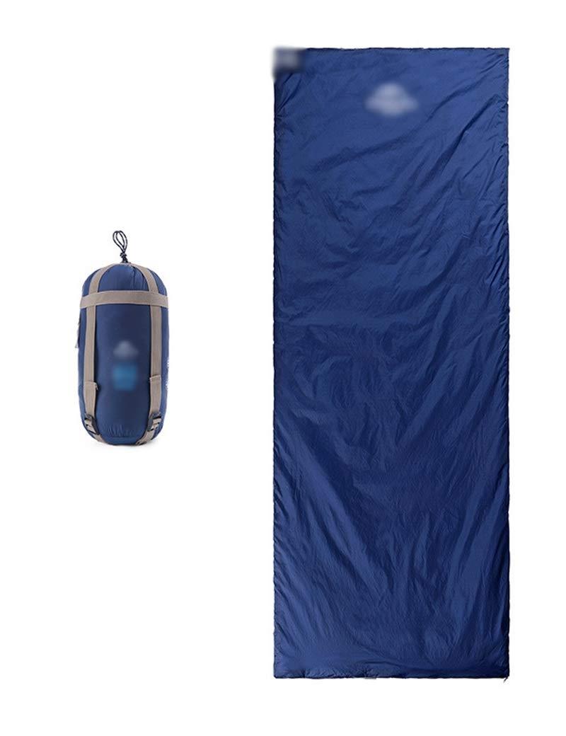 Navy bleu  HJQJP666 Enveloppe extérieure Sac de Couchage Doubleure de Sac de Couchage for hôtel de Voyage de Camping, Double Couleur, Ouverture de la Fermeture à glissière (Couleur   noir-190)