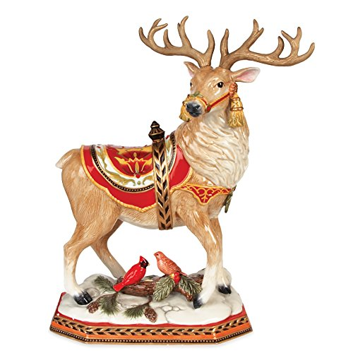 Fitz and Floyd Damask Holiday Deer Figurine