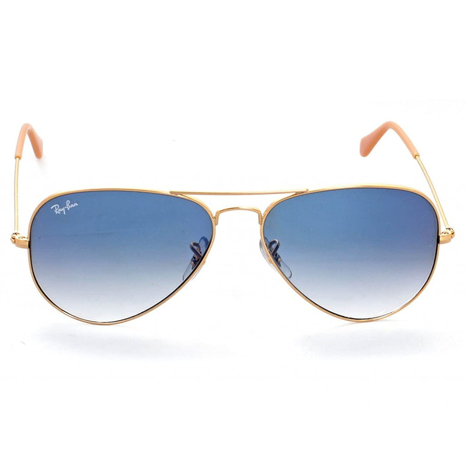 ray ban aviator rb3025 price  Amazon.com: Ray-Ban RB3025 Aviator Sunglasses Arista Gold w/Blue ...
