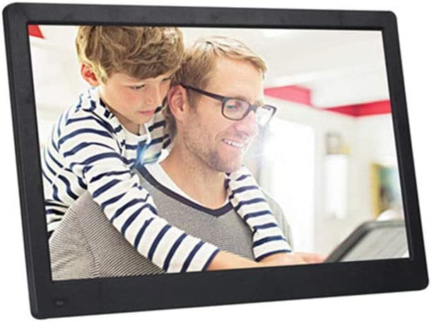 Color : Black HANXIAODONG Large Screen 17.3 Inch Digital Photo Frame 19201080 Pixels 1080P HD Video Playback IPS Screen USB and SD Card Slots