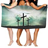 KTMB Christian Faith God Jesus Sky Washable Extra Large Bath Beach Towel Soft Personality Towel