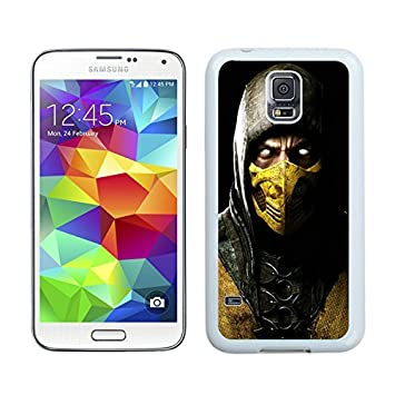 Mortal Kombat X Scorpio Ninja Mask White Samsung Galaxy S5 ...