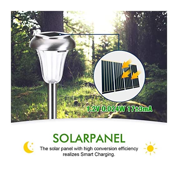 AZIRIER Solar Lights Waterproof Solar Garden Lights, Stainless Steel Solar Landscape Lights Outdoor for Lawn Patio Yard Garden Walkway 8 Pack - ARE YOU STILL STRUGGLING WITH YOUR DARK COURTYARD? DO YOU WANT A BEAUTIFUL GARDEN? Our products can meet your needs,and provide 1 years warranty. SOLAR-POWERED & EASY INSTAL: Powered by free solar energy and supports long-term operations. The light will come on automatically at night and turn off automatically at dawn. Meanwhile, NO-HASSL INSTALLATION! NO WIRES!And please pay attention to the sixth picture about installation. PRODUCT'S FEATURE: Measure 9*40.5cm; Warm light 2.4 lumens, is designed for deccoration, mabye not bright enough, but the light is warm and gentle. Add a charming, decorative glow to your pathways, decorate your garden, porch or yard. - patio, outdoor-lights, outdoor-decor - 51ul%2BoQWaYL. SS570  -