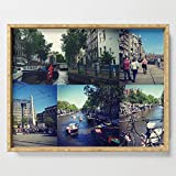 Society6 Serving Tray with handles, 18'' x 14'' x 1 3/4'', Photo collage Amsterdam 1 by kultjers