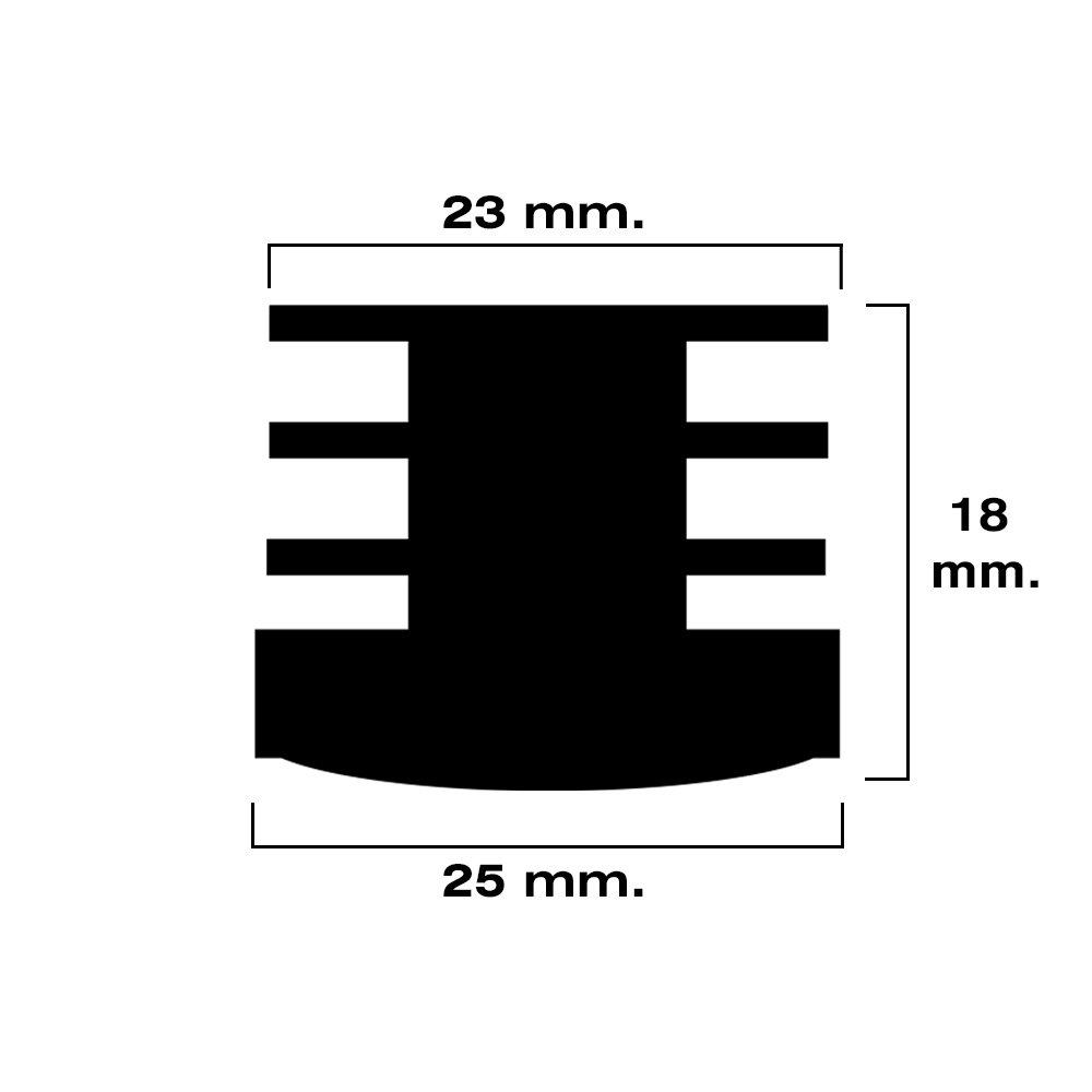 Maurer 5330659 Contera Redonda de Interior Set de 4 Piezas 32 mm Negro