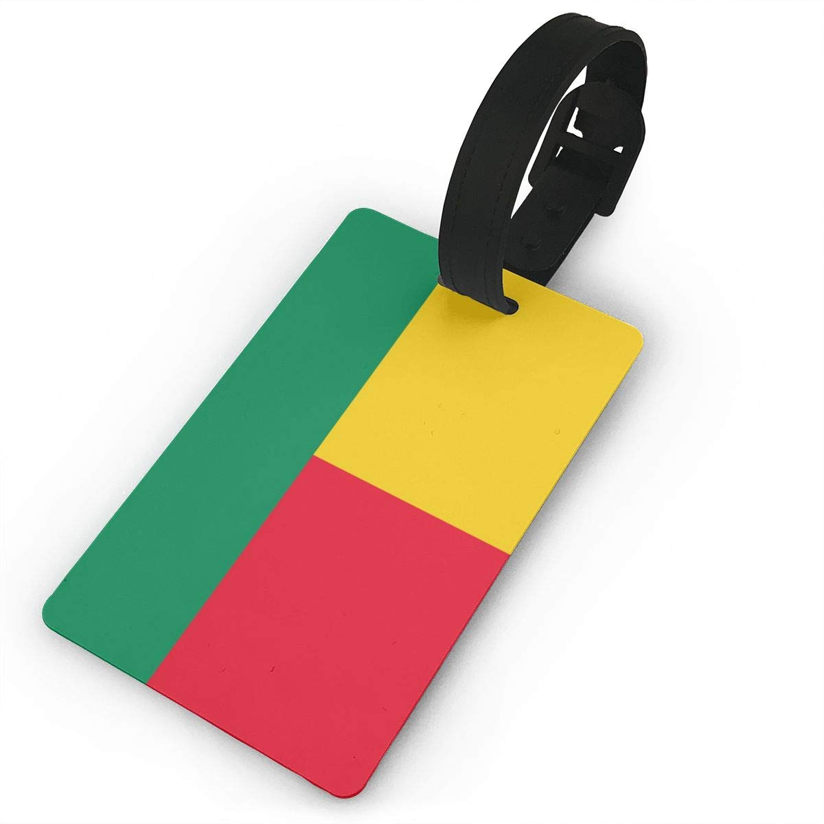 NB UUD Benin Flag Travel Luggage Tag Fashionable Employees Card Luggage Tag Holders Travel ID Identification Labels for Baggage Suitcases Bags