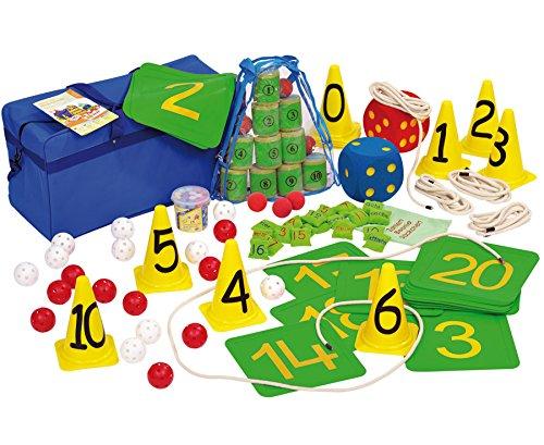 Bewegte Mathematik-Set Kinder Rechnen lernen Zahlen vermitteln Motorik Konzentration Schule Grundschule Kindergarten Lehrmittel Lehrer Pausenhof