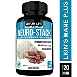 Neuro Stack - Lion's Mane Capsules -1400mg- Plus-21-Additional- Nootropic Stack - Cacao, Bacopa, Ginkgo, Rhodiola - Brain Support Supplement, Brain Booster, Lion's Mane, Lion's Mane Mushroom Capsules