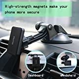 Magnetic Phone Holder for Car Windshield Suction Cup Holder Dashboard Mount 360° Degree Adjustable Rotating Phone Tablet Universal 4 - 9.7inch for iPhone iPad Mini 4 3 2 1 Samsung Tablet Sucker Sticky
