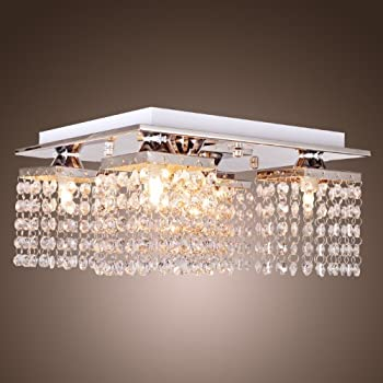 Lightinthebox crystal ceiling light with 5 lights electroplated lightinthebox crystal ceiling light with 5 lights electroplated finish modern flush mount ceiling lights fixture mozeypictures Image collections