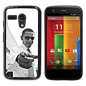iKiki Tech / Estuche rígido - America Patriotism You Black - Motorola Moto G 1 1ST Gen I X1032