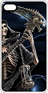 Death Reaper With Sickle White Rubber Case for Apple iPhone 5 or iPhone 5s by Maris's Diary