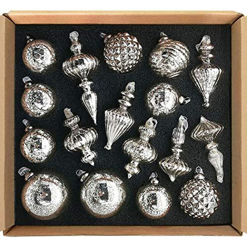 glasburg Size M Mercury Silver Christmas Mercury Glass...