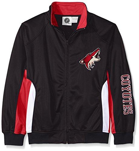 NHL Phoenix Coyotes Tricot Track Jacket with Logo WordMark, Medium, Black