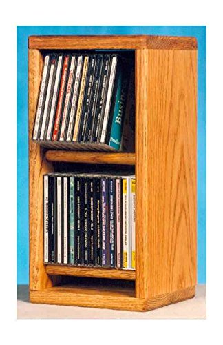 (Solid Oak Dowel Cabinet for CD's)