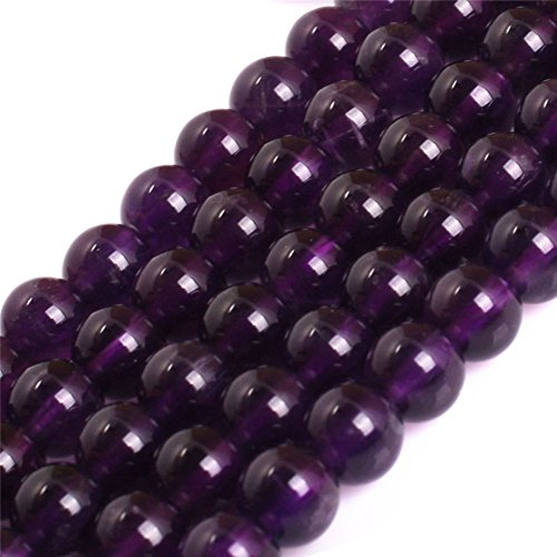 Round Genuine Natural (AAA Grade Natural Genuine Round Semi Precious Gemstone Beads for Jewelry Making Strand 15