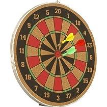 Wood O Plast Dart Board Set 12 inch with 6 Darts 61162866e