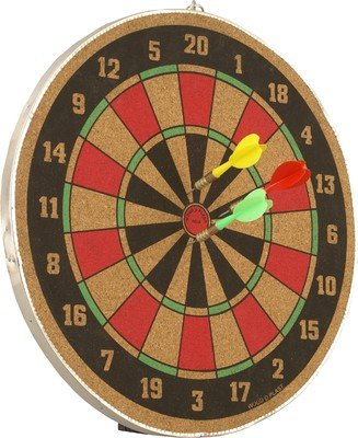 Wood O Plast Dart Board Set, Multi Color (14-inch)
