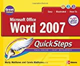 Microsoft Office Word 2007, Marty Matthews and Carole Matthews, 0071482997