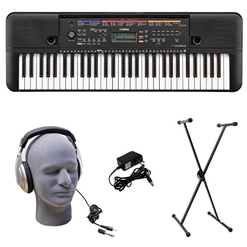 Yamaha PSR-E263 PKS 61-Key Premium Keyboard Pack with Stand, Headphones & Power Supply from Yamaha