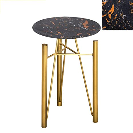 Miraculous Amazon Com Chunlan Wrought Iron Marble Side Table Gmtry Best Dining Table And Chair Ideas Images Gmtryco