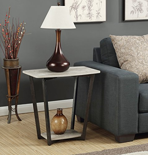 - Convenience Concepts Graystone End Table, Faux Birch